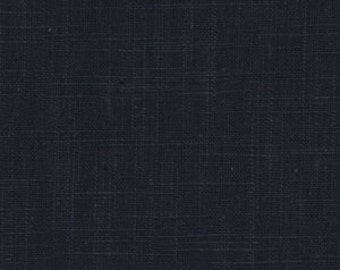 ON SALE - Navy Blue Cotton Slub Upholstery Fabric for Furniture