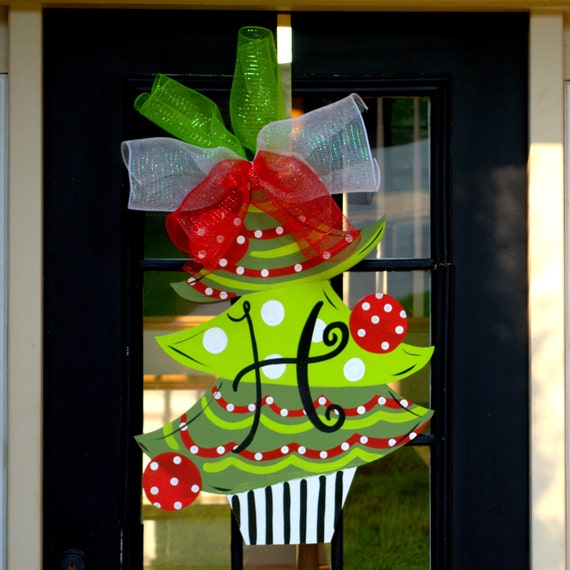 Christmas wreath christmas door decoration christmas tree for Door decorations for christmas