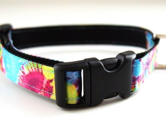 Last Chance! Spring Clearance Sale! Tie Dye Dog Collar Adjustable Sizes (XS, S, M)