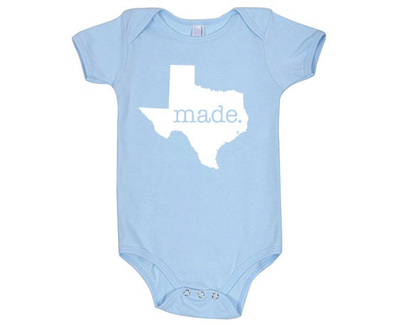 Texas 'Made.' Cotton One Piece Bodysuit - Infant Girl and Boy