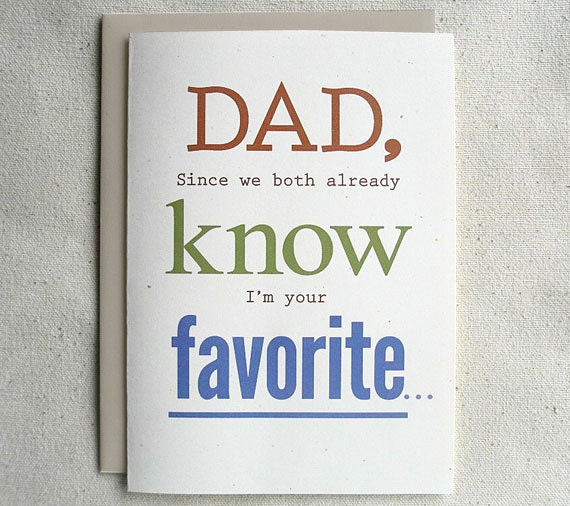 Father Birthday Card Funny Dad Since We Both Already Know