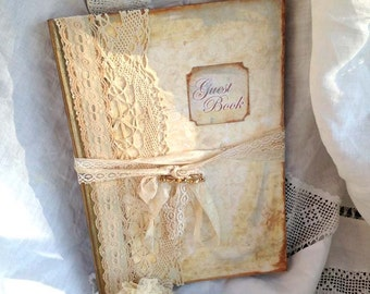 A4 Ivory Wedding Guest Book