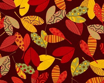Table Runner in Fall Leaves