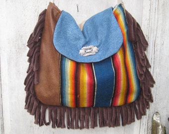 Southwest bag purse, vintage Native American blanket purse, vintage serape bag, crossbody boho bag
