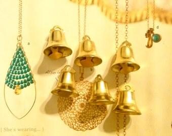 6 Brass Kitty Kat Bells