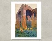 Roma Mercato di Traiano, 1925 - 8.5x11 Travel Print - also available in 13x19 - see listing details
