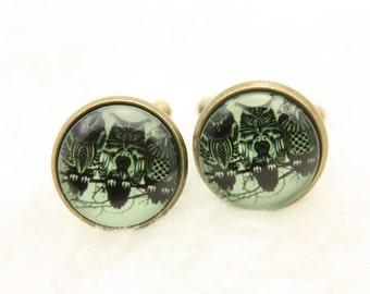 Button cufflinks three owls (1616)