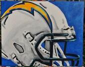 San Diego Chargers Helmet Fine Art