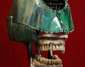 Steampunk Skull Industrial Art Dental Medical Manikin Model Metal - briankubasco