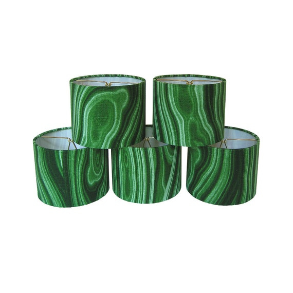 Chandelier Shades Sconce Clip-On Lamp Shade Lampshade Robert Allen Dwell Studio Malakos Malachite Made to Order