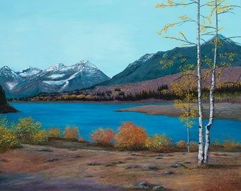 Western Mountain Landscape, Silver Lake -- Giclee of Original Oil Painting