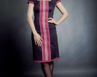 Fashion embroidered dress. Ukrainian Women's dress, vyshyvanka. Modern Ukrainian. УКРАИНСКОЕ ВЫШИТОЕ ПЛАТЬЕ