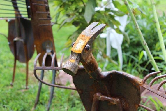 Hammerhai geborgen eisen skulptur garten vogel yard - Skulptur metall garten ...