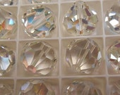 4+ Swarovski 18mm Clear AB Round Crystals, Article 39, Now Article 5300, Rare, Gorgeous and Discontinued