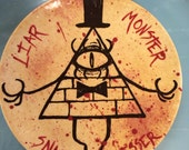 Hand-Painted Bill Cipher Plate