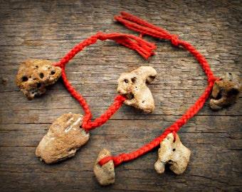 Triple Hag Stone Charm