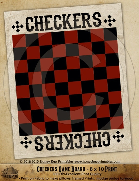 Wooden checker board wooden checkerboard in - Full Size Printable Checkers Board Submited Images