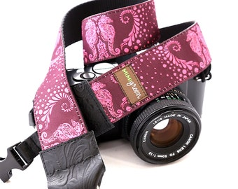 The Shelly Designer DSLR Camera Strap with Quick Release Buckles -- 1.5 inches wide
