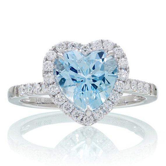 Aquamarine Wedding Bands 34 Amazing Heart shaped diamond solitaire