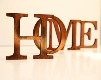 SALE %  HOME distressed wood letters wood word vintage decor