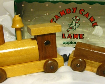 Vintage Applause Candy Cane Lane Magnetic train IOB GREAT