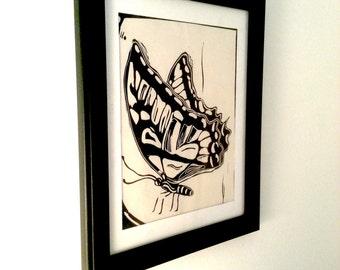 Night Princess - Framed linogravure