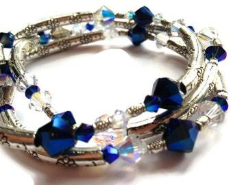 Bangle Set Of 3, Bermuda Blue, Arm Candy, Arm Party, Layering Bracelets, Bangle Bracelets
