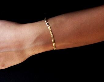 Delicate gold bracelet, 24k gold beacelet, dainty gold bracelet, minimalist bracelet, delicate  bracelet, thin gold bracelet, gold bracelet