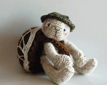 Turtle traveler - PDF knitting pattern (knitted in the round)