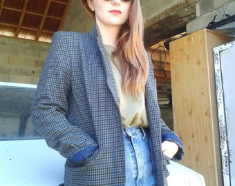Plaid vintage 80 jacket
