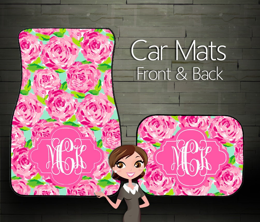 Custom Personalized & Monogrammed Car Mats By BoutiqueMonogram