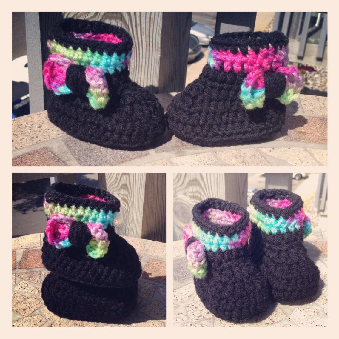Thread Crochet Baby Booties Patterns : Crochet baby booties tall ugg style by LoveLeeDesignsXOXO ...