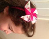 Pinwheel fun... girl/baby felt headband