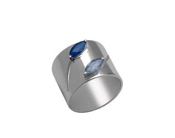 Blue Sapphire Ring- Sapphire Ring- September Birthstone Ring
