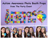Autism Awareness Photo Booth Props - printable or ready made