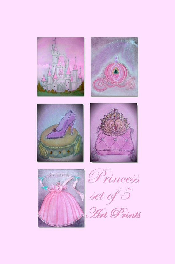 Princess Kids Decor Kids Wall Art Cinderella By Handpainting