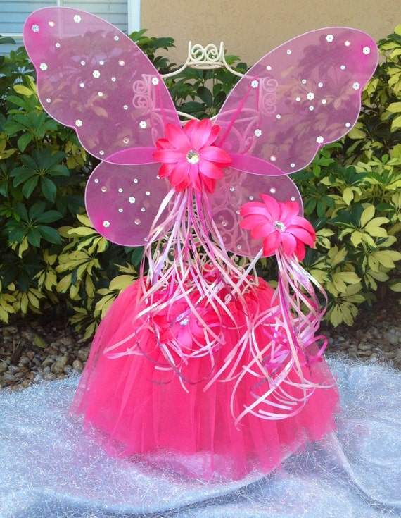 Pink Princess Fairy Tutu, Pink Fairy Wings, Fairy Princess Wand, Fairy Party Favors, Princess Party Favors, Fairy Birthday, Princess Party
