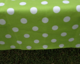 "44"" X 108"" Rectangle Candy Land with Large White Polka Dot Table Cloth Only, It will fit a 8' foot long table"