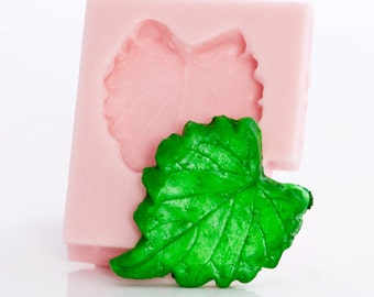Grape leaf silicone mold - resin mold - metal clay mold - wax mold - soap mold - fimo mold - from a flexible silicon. (712)