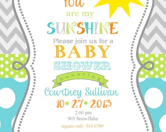 jungle animals baby shower invitation digital or by
