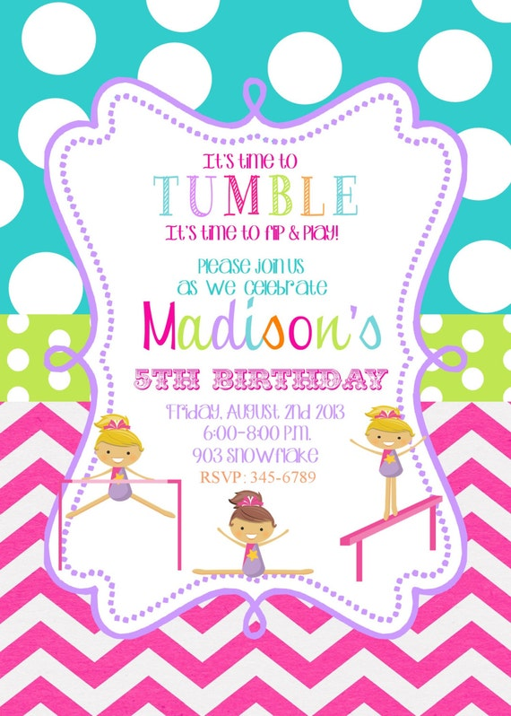 Gymnastics Birthday Party Invitations can inspire you to create best invitation template