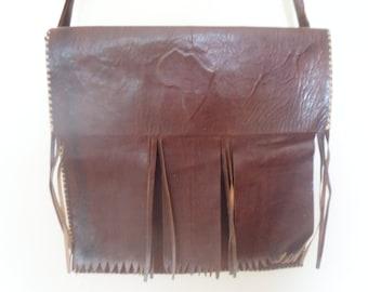 Handmade african Leather Sachel