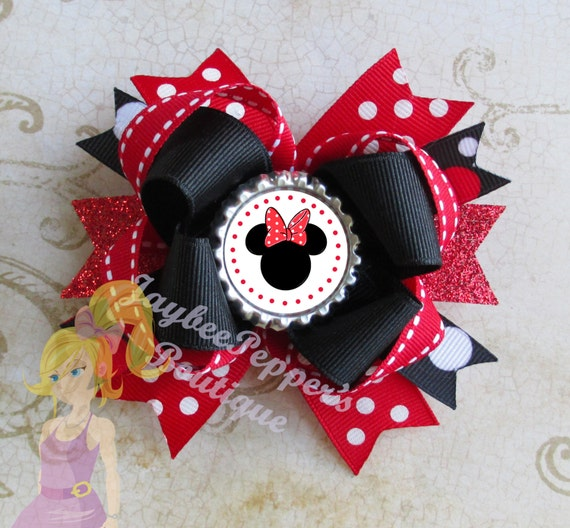 minnie mouse hair bow instructions