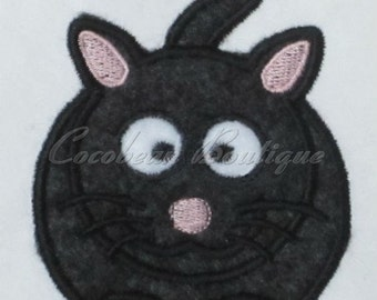 embroidery applique Cat