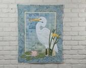 Egret Wall Quilt Pattern
