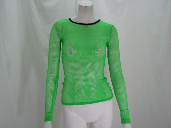 Green Fishnet Shirt Neon Green Fishnet Shirt