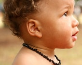 Baltic Amber Teething Necklace for baby - Safety Knotted - Genuine Amber - Limited time price offer - Shipping in USA