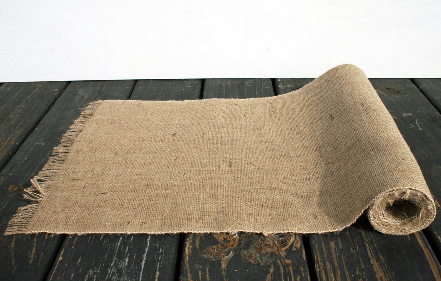 Table runner 10 inch wide by 120 inch long burlap table for 10 foot table runner