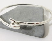 Knot bracelet Sterling Silver Bangle Cuff Silver Bracelet friendship wedding bangle Heavy Silver Bracelet Bangle Twist Hammered