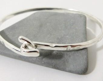 Knot bracelet Sterling Silver Bangle Cuff Silver Bracelet friendship wedding bangle Heavy Silver Bracelet Bangle Twist Hammered
